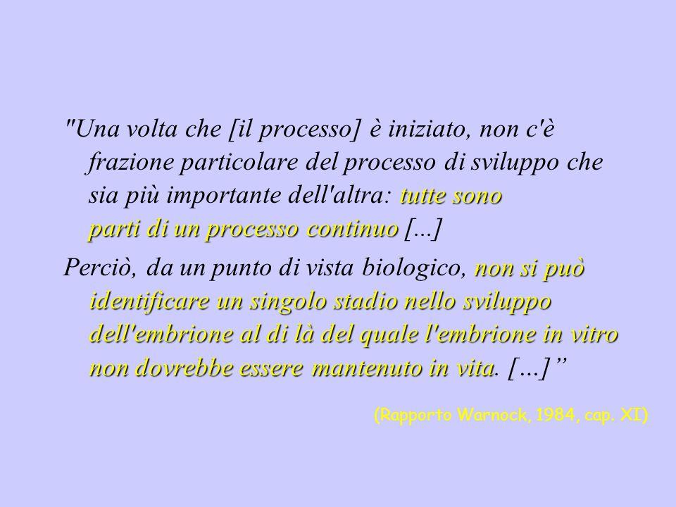 Una volta che [il processo] è iniziato, non c è frazione particolare del processo di sviluppo che sia più importante dell altra: tutte sono parti di un processo continuo [...]